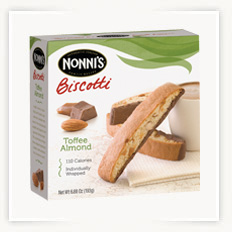 Toffee Almond Biscotti Cookie