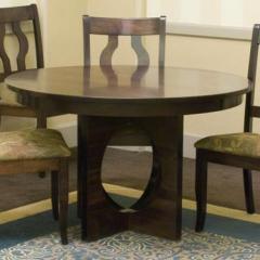 Single Metro Customizable Round Pedestal Table