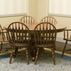 Jr. Bowback Group Customizable Oval Pedestal Table