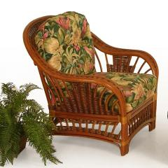 Bali Upholstered Wicker Chair