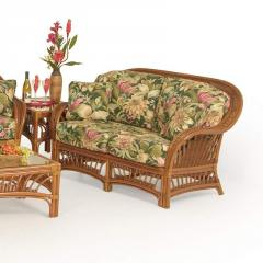 Bali Wicker Upholstered Love Seat