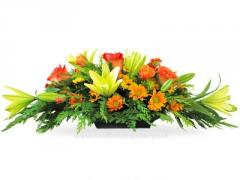 Long and Low Fall Centerpiece Dream Flowers