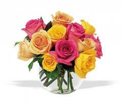 Hot Summer Roses Bouquet