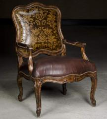 Darcy Exposed Wood Accent Chair