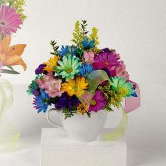 Happy Birthday Mug Flowers