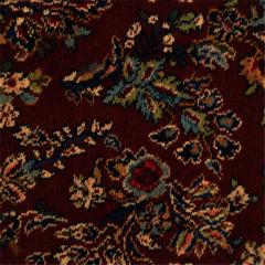 Axminster Broadloom: Red Sarouk Karastan Carpet