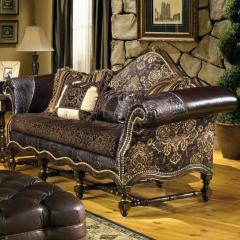Hacienda Traditional, Exposed Wood Sofa