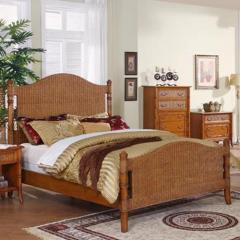 Boca Raton Queen Wicker Bed