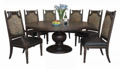 Versailles Round Dining Table with Six Chairs