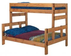 Twin/Full Stackable Wood Bunk Bed