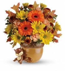 Teleflora's Send a Hug Fetching Fall Bouquet