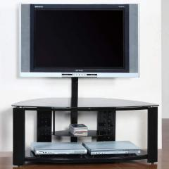 Media-Home Entertainment Corner Post TV Stand