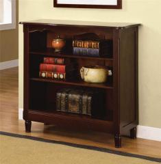 Brown Cherry Three Shelf Bookcase