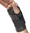 Black Single Tension Wrist Support With Spiral