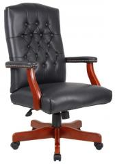 Traditional Italian Leather Executive Chair