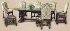 Castlegate 8 Piece Trestle Dining Table Set