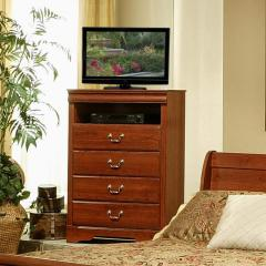 Maurice Transitional 1 Shelf 4 Drawer TV Chest
