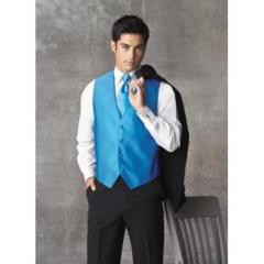 Ocean Blue Tuxedo Vest