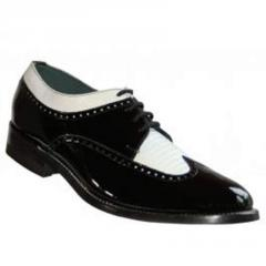 Black & White Patent Leather Shoes