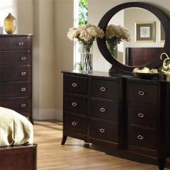 Crossroads 9 Drawer Dresser & Oval Mirror