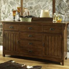 Craftsman 6 Drawer, 2 Door Dresser