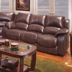 Flexor Leather Match Reclining Sofa