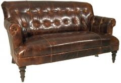 Traditional Button Tufted Settee