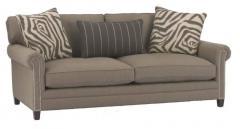 Stationary Sofa with Nail Head Accents