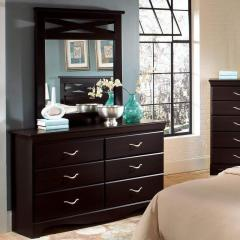 Crossroads Six Drawer Dresser & Panel