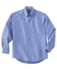 Men's Wrinkle-Resistant Yarn-Dyed Stripe Long