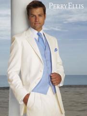 White Perry Ellis Virgo Tuxedo