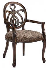 Animal Print Exposed Wood Chair