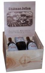 Six bottle Private Reserve 2000 Merlot in Custom