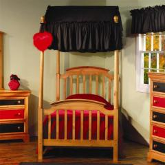 Crayons Twin Canopy Bed