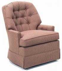 Casual Tufted Back Stationary Chair