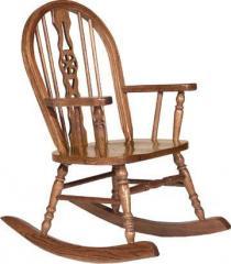 Juvenile Furniture Wagon Wheel Child's Rocker