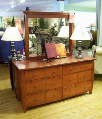 Shangri la Six Drawer Dresser and Mirror