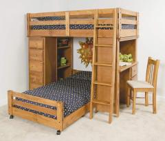 Twin Lofted Bunk Bed