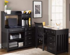 L-Shaped Desk with File Cabinet Hampton Bay