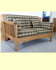 High Back Mission Loveseat AJ-202