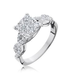 14K White Gold Endless Diamond® Engaged™