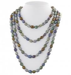 8-9MM Dark Multi Baroque Freshwater Cultured Pearl