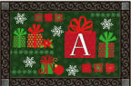 Christmas Presents Monogram Doormat m11475A