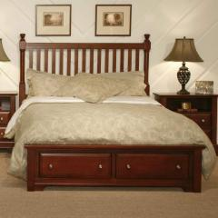 Cottage King Slat Storage Bed