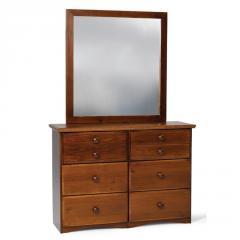 Pine Ridge 6-Drawer Dresser & Mirror