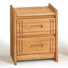 Woody Creek Pine 2-Drawer Night Stand