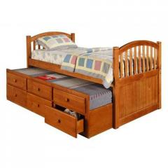 Pine Ridge Twin Arched Mission Bed