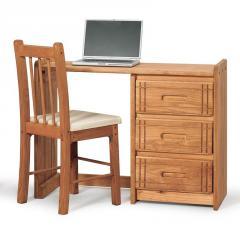 Woody Creek Three Drawer Single Pedestal Desk