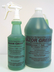 Stainless Steel Cleaner, Razor Green