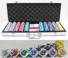 13.5g 500pc High Roller Clay Poker Chips Set w/